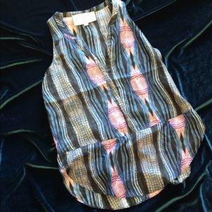 XS  Rory Beca Silk Print tops